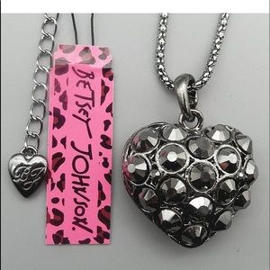 Betsey Johnson Heart Necklace